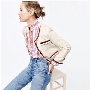 J. Crew Fringy Tweed Jacket